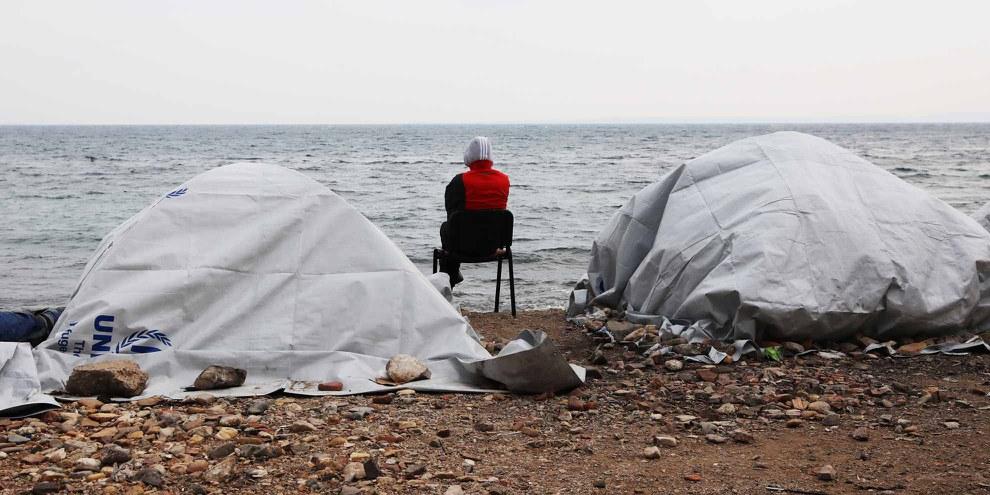 Europa ist moralisch und rechtlich verpflichtet, Menschen zu schützen, die auf der Flucht vor Konflikten und Verfolgung sind. © Giorgos Moutafis