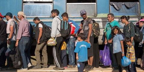 Flüchtlinge an der griechisch-mazedonischen Grenze. © Amnesty International
