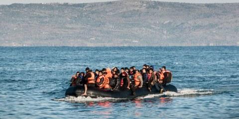 Flüchtlinge die aus der Türkei mit Booten in Lesbos ankommen. © Amnesty International