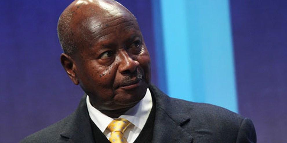 dER ugandische Präsident Museveni. © DR