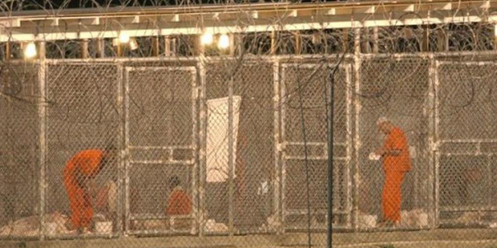 Camp X-Ray à Guantánamo Bay. | © AP
