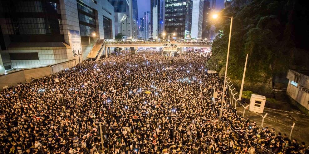 In Hongkong protestieren die Menschen für politische Freiheit. © Jimmy Lam @everydayaphoto