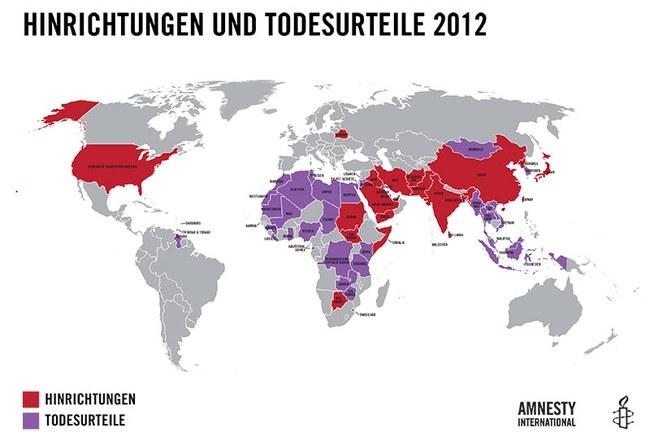 Hinrichtungen und Todesurteile 2012. © AI