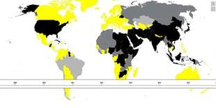 Interaktive Weltkarte zur Todesstrafe (in Englisch)