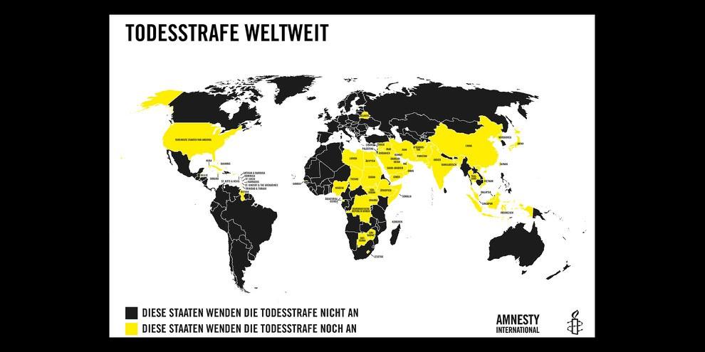 Weltweit geht die Zahl der Staaten, die die Todesstrafe anwenden zurück. © AICH