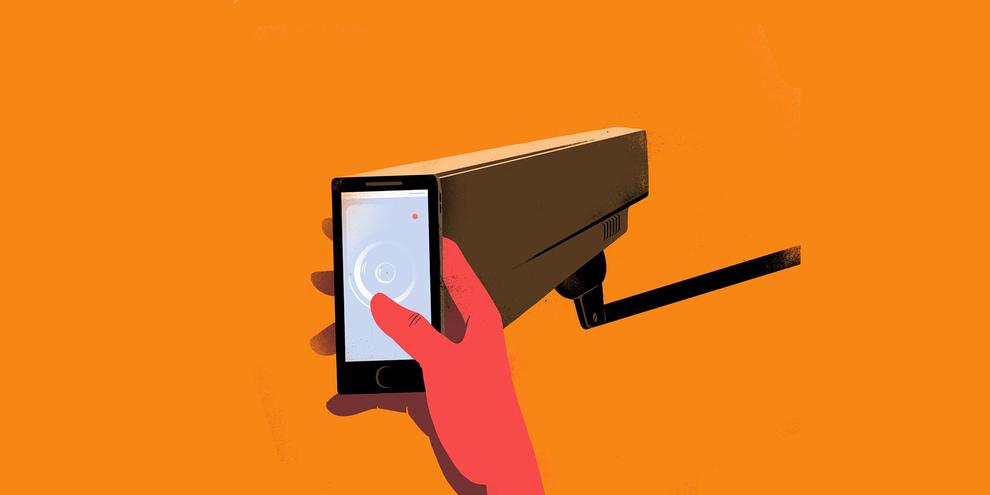 Die Überwachung durch Facebook und Google stellt eine Bedrohung für eine Reihe von Rechten dar, wie beispielsweise das Recht auf Meinungs-, Meinungs- und Gedankenfreiheit. © Sebastien Thibault/agoodson.com