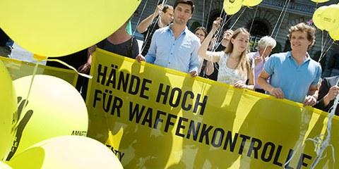 Amnesty fordert seit Langem eine straffe Waffenhandelskontrolle. © V. Chételat