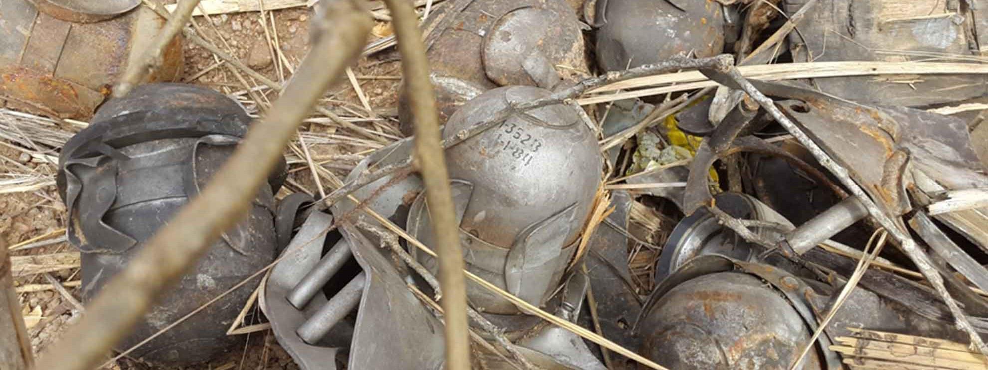 Überreste einer Cluster-Bombe, gefunden in einem Haus in Süd Kordofan, Sudan. Februar 2015. © Amnesty International