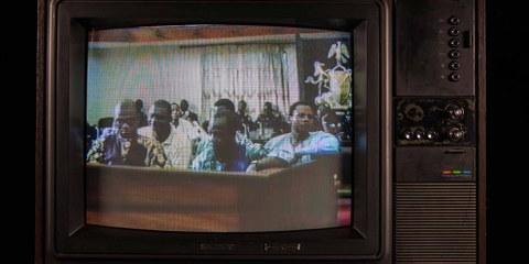 Dr. Barinem Kiobel beim «Ogoni Nine»-Gerichtsverfahren am 18. Mai 1995, Port Harcourt, Nigeria.