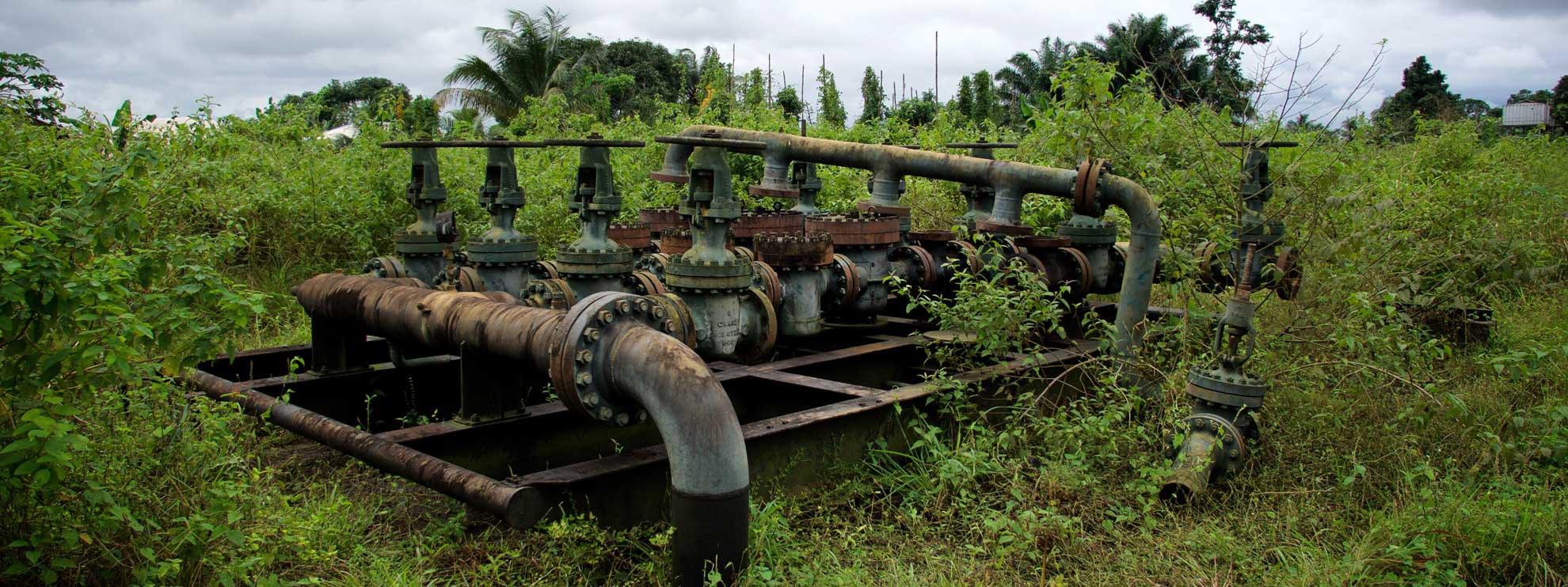 Eine verlassene Pumpstation. © Michael Uwemedimo/cmapping.net