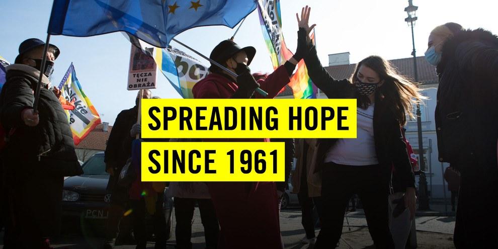 Zum 60-Jahr-Jubiläum erzählt Amnesty International Erfolgsgeschichten der Menschenrechte.