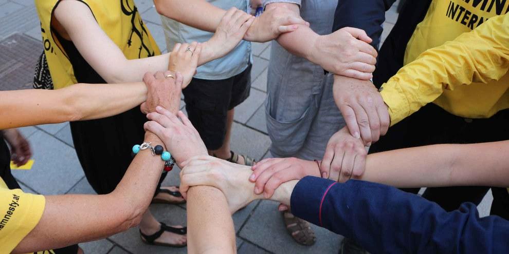 Gemeinsam sind wir stark: Kampagne gegen Folter © Amnesty International