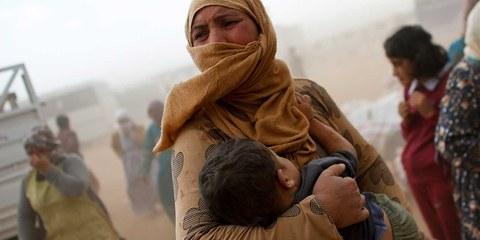 Der Gewalt entflohen: Kurdische Flüchtlinge im syrisch-türkischen Grenzort Suruç. © MURAD SEZER/Reuters/Corbis
