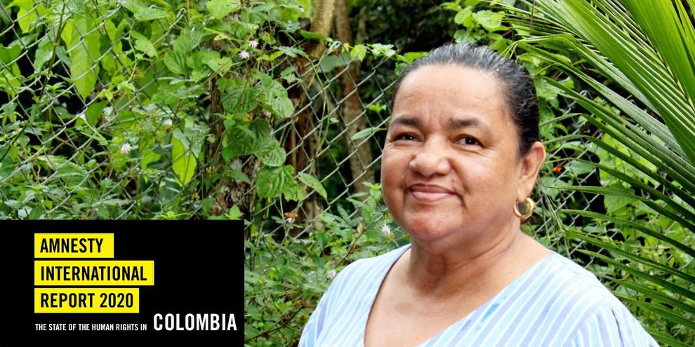 Die Menschenrechtsverteidigerin und Landrechtsaktivistin Jani Silva wird verfolgt, von Unbekannten eingeschüchtert und mit dem Tode bedroht. © Nubia Acosta