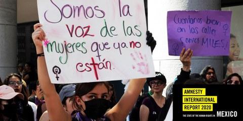 Protest gegen Femizide am internationalen Tag der Frau vom 8. März 2020 in Mexiko. ©Samantha Pantoja