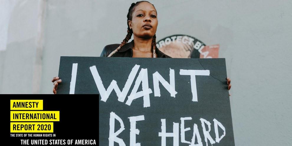 Demonstration für Meinungsfreiheit, Gleichheit und soziale Gerechtigkeit in Los Angeles im Dezember 2020. © Pexels/RODNAE Productions