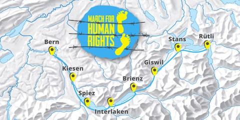 Marsch für Menschenrechte
