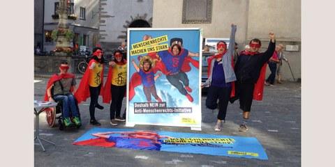 Nationaler Aktionstag gegen die «Selbstbestimmungsinitiative»