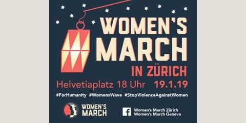 Women's March Zurich: gegen Gewalt an Frauen