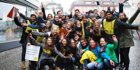 Drehspass mit Berner Rapper Knackeboul in Luzern © Amnesty International