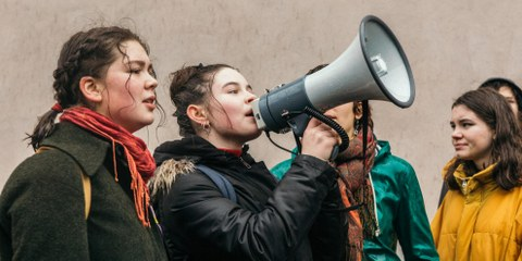 Mitglieder der Jugendgruppe Basel am Klimastreik © Christian Wilner