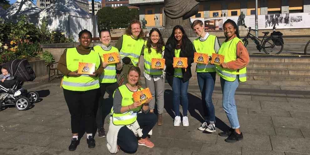 Die Teilnehmenden des Norway Student's Gathering 2019 in Aktion © Naomi Schumacher