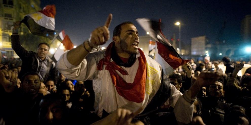 Cinq ans après le soulèvement qui a conduit à la destitution du président Moubarak, l'Égypte est redevenue un État policier répressif. © Chris Hondros/Getty Images