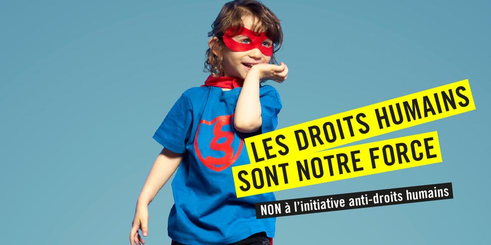 Campagne d'Amnesty International contre l'initiative de l'UDC. © AI
