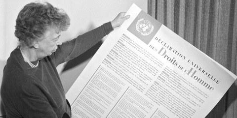 Eleanor Roosevelt et la Déclaration universelle des droits de l'homme. Décembre 1948, New York © UN Photo