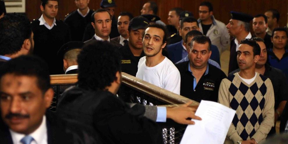 Shawkan lors de son procès en mars 2016 © Ahmed Roshdi