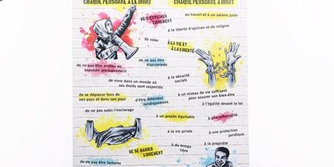 Poster de la Déclaration universelle des droits de l'homme