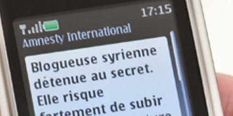 S'engager par sms