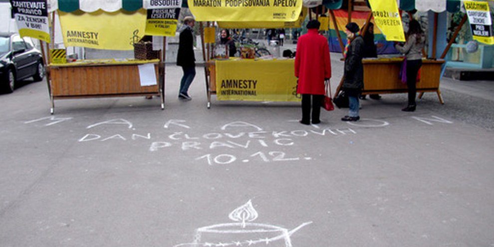 En Slovénie © Amnesty International / Vesna Lutar