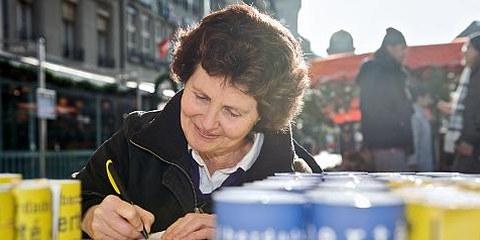 Atelier d'écriture à Berne le 10 décembre à l'occasion de la Journée internationale des droits humains. © Susanne Keller