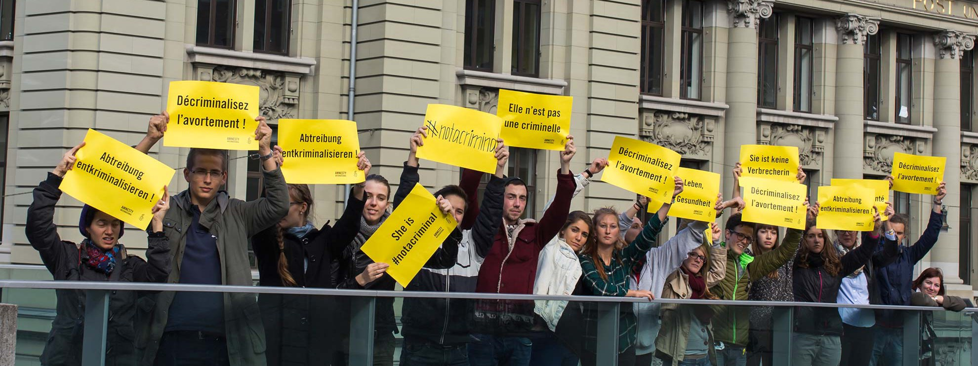 Action pour la campagne My Body, My Rights © Amnesty International Michael von Bergen
