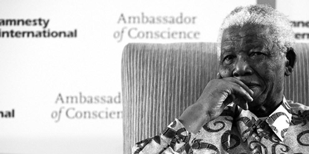 Nelson Mandela, désigné Ambassadeur de la Conscience en 2006. © Jurgen Schadeberg