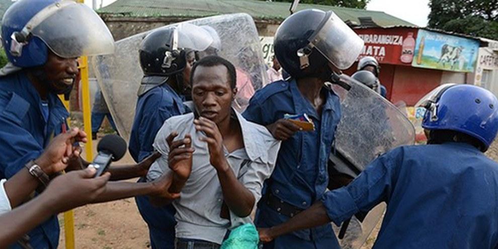 Les civils ont été particulièrement touchés lors des manifestations en protestation contre un troisième mandat du président Pierre Nkurunziza. © AFP/Getty Images