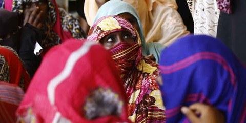 Des réfugiés érythréens dans un camp à Kassala au Soudan, 22 octobre 2015. © ASHRAF SHAZLY/AFP/Getty Images