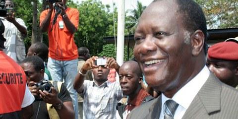 Le siège du parti du candidat à l'élection présidentielle Alassane Ouattara a été attaqué. © Demotix / Stefan Meisel