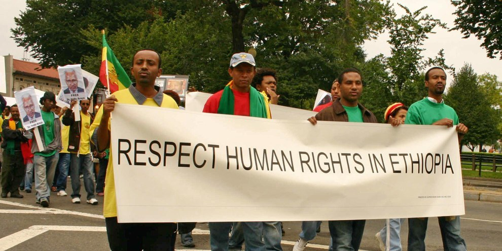 Les droits humains doivent aussi être respectés en Ethiopie: les manifestants le demandaient déjà en 2006. © Elvert Xavier Barnes