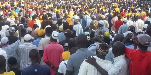 En Gambie, les citoyens descendent dans la rue. © United Democratic Party (UDP)