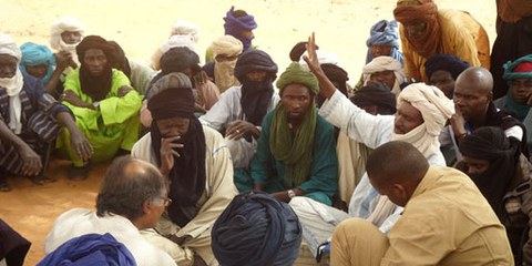Des réguiés maliens ont fui la terreur, site de Tinfaguate, région d'Ayorou, Niger. © AI