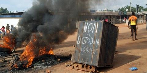 Le discours antimusulman au sein de la communauté chrétienne à Bangui se traduit parfois en actes. © Pacome Pabandji / AFP / Getty Images
