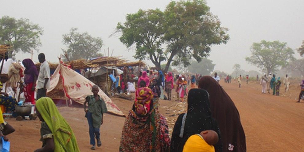 La situation des personnes ayant fui vers le Tchad voisin risque de s'aggraver avec la saison des pluies. © AI
