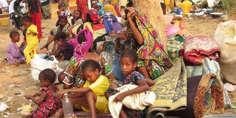 De nombreux musulmans et musulmanes ont été forcés de fuir le nord de Bangui face aux attaques des forces anti-Blaka. © Amnesty International
