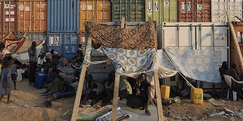 À Juba, nombreux sont celles et ceux qui cherchent refuge dans le camp mis en place par la Mission de l'ONU. | © TONY KARUMBA/AFP/Getty Images