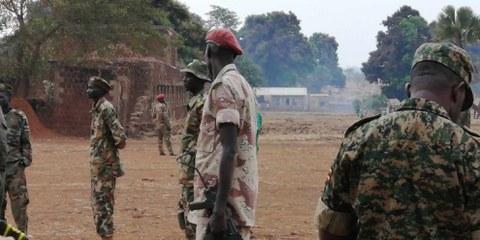 L'un des sites d'entraînement militaire au Sud-Soudan visité par les chercheurs et chercheuses d'Amnesty International. ©AI