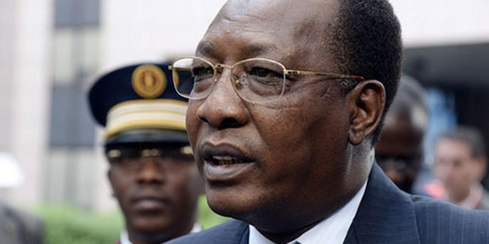 Le président tchadien Idriss Déby Itno entend fermer la frontière aux réfugiés centrafricains. © THIERRY CHARLIER/AFP/Getty Images