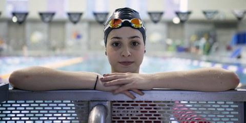 La nageuse syrienne Yusra Mardini fait partie des 43 athlètes réfugiés pré-sélectionnés pour participer aux Jeux olympiques de Rio. © Mirko Seifert