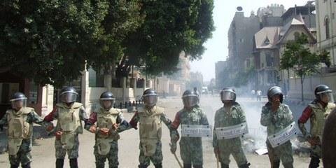 Des armes et munitions venant des Etats-Unis d'Amérique ont été utilisées par les forces armées égyptiennes. © Omnia E. Al Desoukie